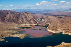 Colorado River joins Lake Mead Stock Photography