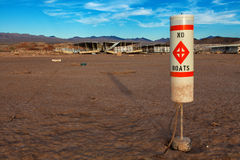 Colorado River and Lake Mead Drought Water Level Stock Image