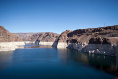 Colorado River Lake Meade close to Hoover Dam. Scenic landscape vista Royalty Free Stock Photos