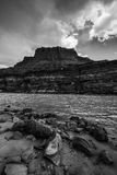 Colorado River at Lees Ferry Black and White Vertical Stock Photography
