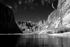 Colorado River Moon Stock Image