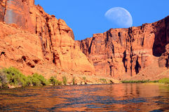 Colorado River Moon Royalty Free Stock Images
