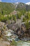 Colorado river and mountains Stock Photography