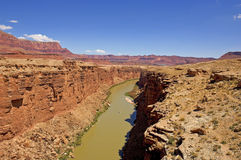 Colorado River at Navajo Bridge Royalty Free Stock Photo
