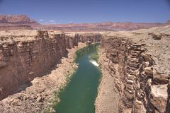 The colorado river near Navajo Bridge Royalty Free Stock Photography