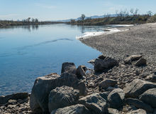 Colorado River near Needles, California Stock Images