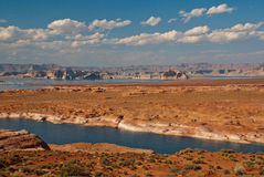 Colorado River near Page, Arizona and Utah, USA. The Colorful Colorado River running through the desert of Arizona and Utah, USA Stock Image