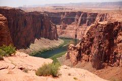 Colorado river near to the Glen canyon dam, USA Royalty Free Stock Photo