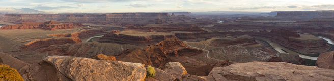 Colorado River Panorama from Dead Horse Point Stock Photo