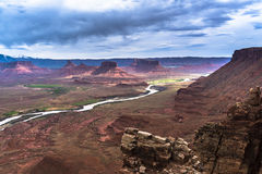 Colorado River professor valley overlook utah Stock Photography