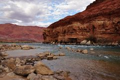 Colorado river rapids at Lee's ferry Stock Image