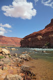 The the Colorado River in the red rocks Stock Photo