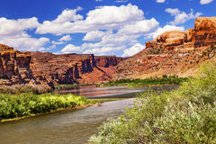 Colorado River Rock Canyon Reflection Stock Images