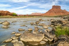 Colorado River above Moab in Utah Stock Images