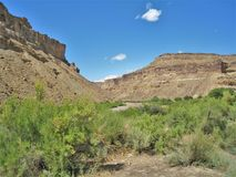 Colorado River. The Colorado River running through the canyon just northeast of Moab, Utah Stock Photo
