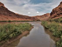 Colorado River. The Colorado River running through the canyon just northeast of Moab, Utah Royalty Free Stock Photo