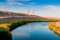 The Colorado River. Separating Arizona and California at the southern end of Arizona near Yuma Stock Photo