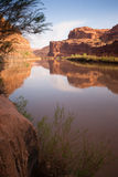 Colorado River Shore HWY 128 Arches National Park Utah Stock Image