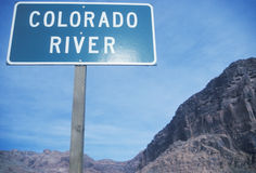 Colorado River sign. A sign that reads Colorado River sign Royalty Free Stock Image