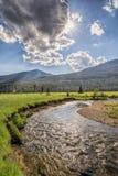 Colorado River with sun starburst Stock Photos