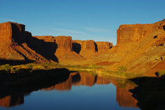 Colorado River at sunset, Utah. Colorado River at sunset near Mineral Bottom, Utah Stock Photography