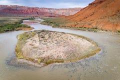 Colorado River in Utah aerial view Stock Photos
