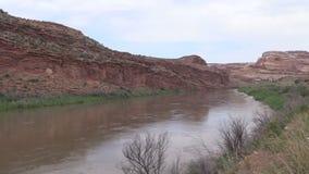 Colorado River Utah Scenic stock footage