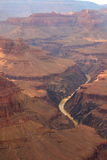 Colorado River Winding Through Grand Canyon Stock Photography