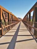 Colorado Riverway Bridge. Bridge over the Colorado River built for pedestrians and cyclists in Moab, Utah Stock Photos
