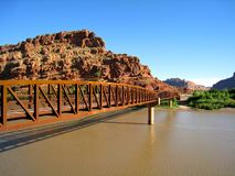 Colorado Riverway Bridge Royalty Free Stock Photography