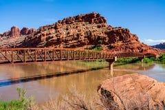 The Colorado Riverway Bridge. In Moab, Utah Stock Image
