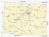 Colorado road map Stock Photos