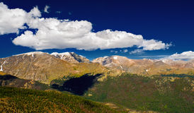 Colorado Rockies. The view of the Colorado Rockies looking over the Continental Divide in Rocky Mountain National Park stock photography