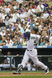 Colorado Rockies Baseball with Bat broken by Gonazalez Royalty Free Stock Photography