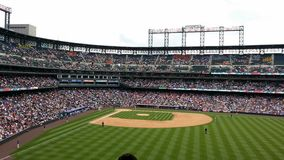 Colorado Rockies - champ de Coors Photographie stock