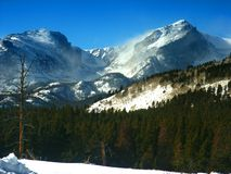 Colorado Rockies in de Winter Stock Afbeeldingen