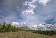 Colorado Rockies en el rastro de Colorado cerca del pequeño lago Molas Foto de archivo libre de regalías