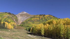 Colorado Rockies in Fall. A colorful scenic landscape of a colorado rocky mountains in fall stock footage