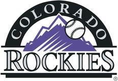 Colorado rockies logo MLB Stock Image
