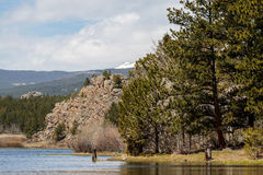 Colorado Rocky Mountain Lake stock photo