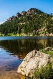 Colorado Rocky Mountain Lily Lake Fotos de archivo