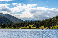 Colorado Rocky Mountain Lily Lake fotografia stock libera da diritti