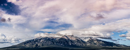 Colorado Rocky Mountain Range Panorama at Sunset Stock Photos