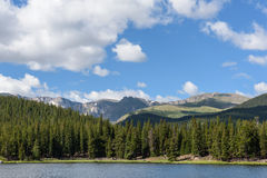 Colorado Rocky Mountain Scenic Beauty. Echo Lake Below Mt. Evans stock photos