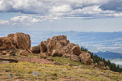 Colorado rocky mountain scenic. A scenic view of the Colorado rocky mountains Royalty Free Stock Photography