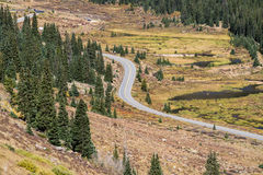 Colorado rocky mountains - independence pass. Colorado rocky mountains - the mountain road highway independence pass during the spring summer - nature landscape Royalty Free Stock Photography