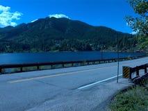 Colorado rocky mountains lake blue skies Royalty Free Stock Photos