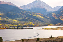 Colorado's Twin Lakes and Mountain Range Royalty Free Stock Images