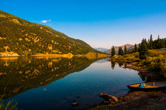 Colorado San Cristobal Lake reflection royalty free stock photos