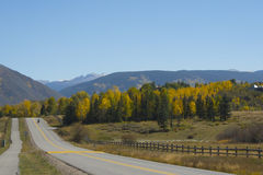 Colorado scenic road in fall Stock Photo